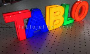 انواع تابلو حروف برجسته پلاستیک